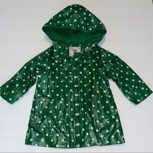 Baby Gap 18-24 month green polka dot rain jacket